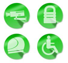 Free Camera Padlockhelmet Wheelchair Access Stock Images - 10348054