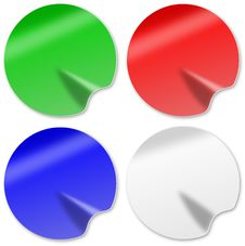Free Red Green Blue White Sticky Label Royalty Free Stock Photos - 10348068