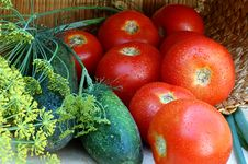 Free Tomatoes Ad Cucumbers Stock Photography - 10348422