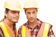 Free Two Construction Workers At The Job Stock Photos - 10348583