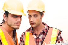 Free Two Construction Workers At The Job Stock Photos - 10348763