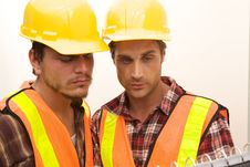 Free Two Construction Workers At The Job Stock Images - 10348774