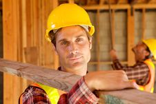 Free Construction Worker On The Job Royalty Free Stock Photos - 10348828