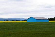 Free Blue Barn In A Field Royalty Free Stock Photos - 10348838