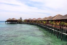 Sipdan Water Village Resort Royalty Free Stock Photography