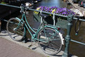 Free Amsterdam-Bike, Canal And Flowers Stock Images - 10353254