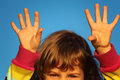 Free Girl With Lifted Hands Closeup Stock Photography - 10354902