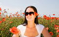 Free Young Beautiful Woman In Poppy Flowers Royalty Free Stock Images - 10359119