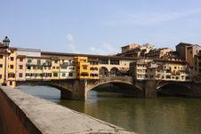 Free Medieval Bridge Ponte Vecchio In Florence Stock Image - 10350841