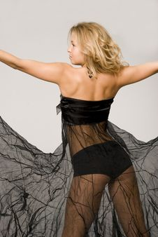 Free A Blonde   Is  In Black Stock Photos - 10350953