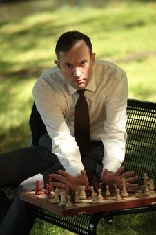 Free Angry Man Playing Chess Stock Photo - 10351130