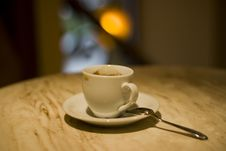 Free Cup Of Coffee With A Spoon Royalty Free Stock Photos - 10351148