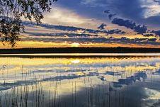 Free Sunset On The Lake Stock Photo - 10351310