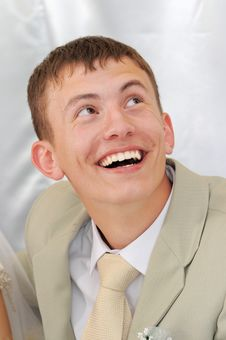 The Young Man Laughs. Royalty Free Stock Images