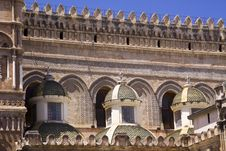 Free Cathedral Of Palermo Close-up On The Small Towers Royalty Free Stock Image - 10352476