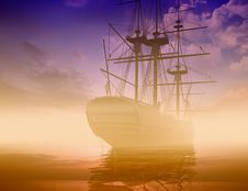 Free The Ancient Ship Royalty Free Stock Photography - 10352857