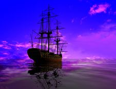 Free The Ancient Ship Royalty Free Stock Photography - 10352957