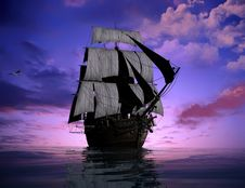 Free The Ancient Ship Royalty Free Stock Image - 10353016