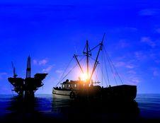 Free Production Of Petroleum Stock Photo - 10353020