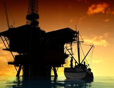 Free Production Of Petroleum Royalty Free Stock Photos - 10353228
