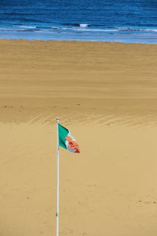 Free Irish Flag Waving In Breeze Royalty Free Stock Photos - 10353398