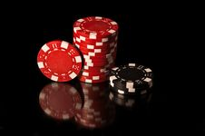 Free Some Casino Chips. Royalty Free Stock Photos - 10353478