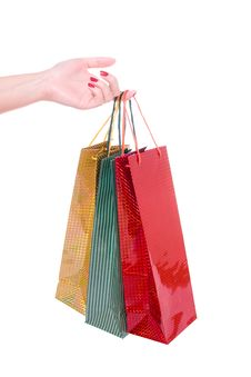 Free Hand Holding Shopping Bags Stock Photography - 10353982