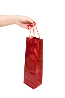 Free Hand Holding Red Shopping Bag Royalty Free Stock Photo - 10354005
