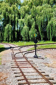 Free Railroad Tracks Royalty Free Stock Photography - 10355007