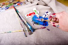 Free Paint Tubes Royalty Free Stock Photography - 10355567