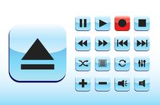 Free Playback Blue Buttons Stock Image - 10355971