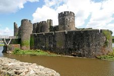 Caerphilly Castle Stock Image