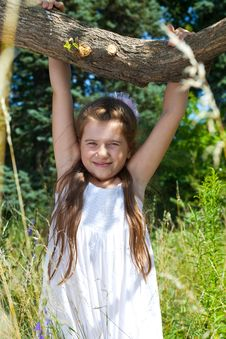 Free Girl  Hangs On A Tree Royalty Free Stock Photo - 10357485