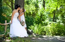 Free Bride Kisses The Daughter Royalty Free Stock Image - 10357576