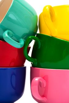 Free Color Cups Royalty Free Stock Photography - 10358847