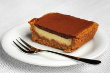 Chocolate Souffle Cake Stock Photography