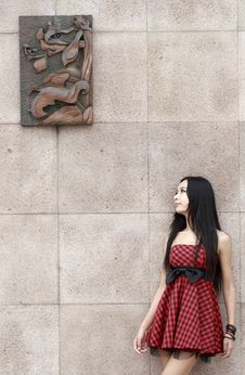 Free Asian Modern Girl Outdoor Royalty Free Stock Photo - 10359695