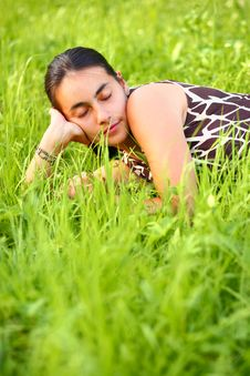 Young Woman Resting Stock Images
