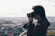 Free Boy With Camera Stock Photos - 103510663