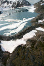 Free Aerial View Of Lake In The Denver Glacier Stock Images - 10360874
