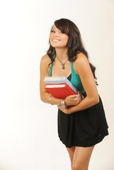 Free Beautiful Young Student Royalty Free Stock Images - 10360059