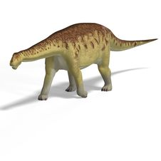 Free Giant Dinosaur Camasaurus With Clipping Path Over Royalty Free Stock Image - 10360086