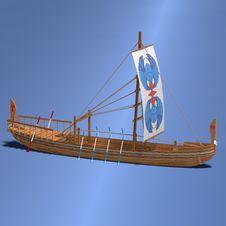 Free Egyptian Boat Stock Photo - 10360100