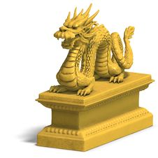 Free Golden Chinese Dragon Statue Royalty Free Stock Photo - 10360125