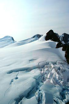 Denver Glacier, Aerial View Royalty Free Stock Photo