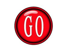 Red Go Button Royalty Free Stock Photography