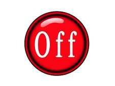 Free Red Off Button Stock Photos - 10361303