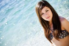 Free Young Woman On The Sea Royalty Free Stock Photos - 10362208