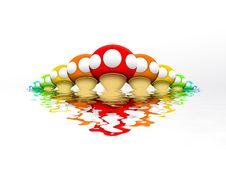 Rainbow Mushrooms Royalty Free Stock Image