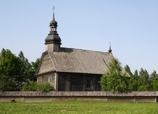Rural Wooden Church Royalty Free Stock Photo